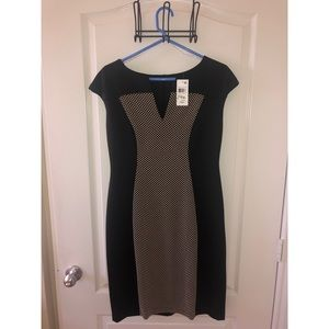 Black and gold business dress